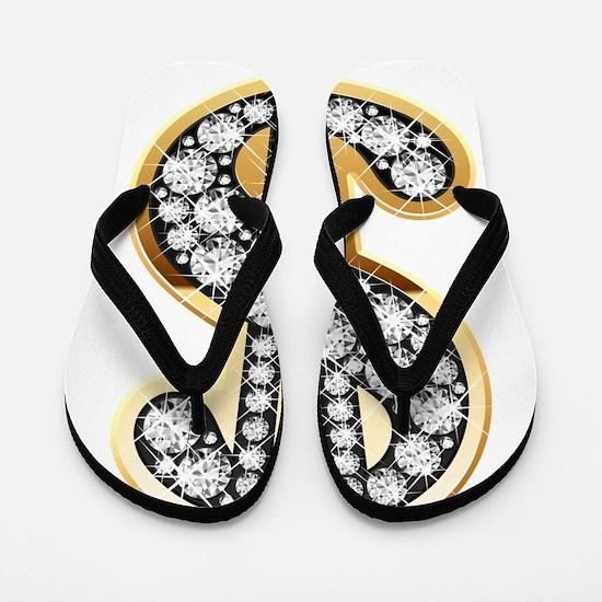 Gold Dollar Rich Flip Flops