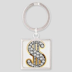Gold Dollar Rich Keychains