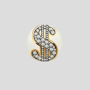 Gold Dollar Rich Mini Button