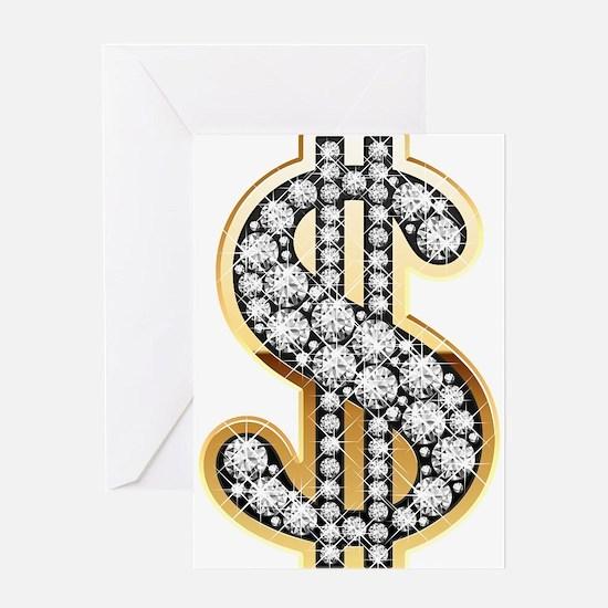 Gold Dollar Rich Greeting Cards
