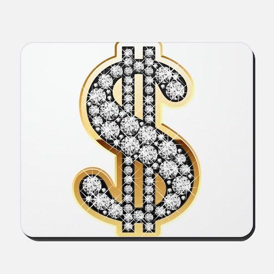Gold Dollar Rich Mousepad