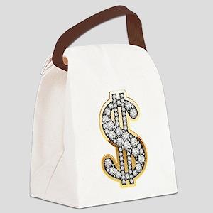Gold Dollar Rich Canvas Lunch Bag