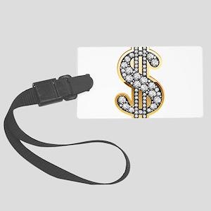 Gold Dollar Rich Luggage Tag