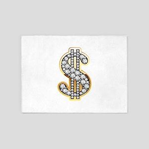 Gold Dollar Rich 5'x7'Area Rug