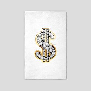 Gold Dollar Rich 3'x5' Area Rug