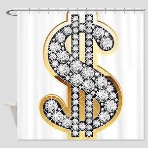 Gold Dollar Rich Shower Curtain