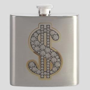 Gold Dollar Rich Flask