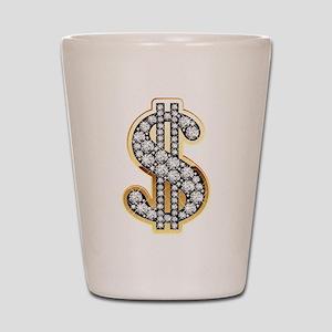 Gold Dollar Rich Shot Glass