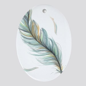 Feather Oval Ornament