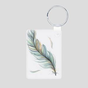 Feather Aluminum Photo Keychain