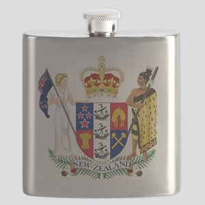 Coat of Arms of New Zealand Flask