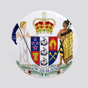 Coat of Arms of New Zealand Round Ornament