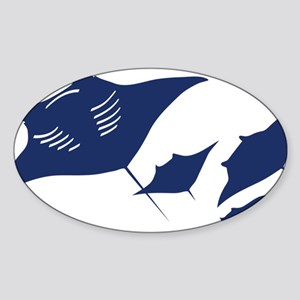manta ray rochen scuba diving fish  Sticker (Oval)