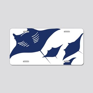 manta ray rochen scuba divi Aluminum License Plate