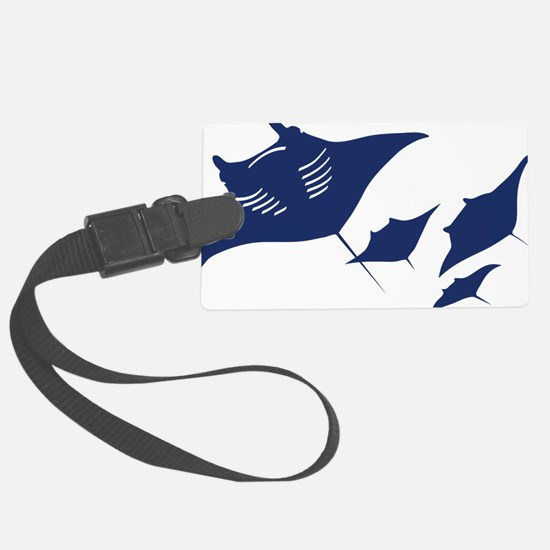manta ray rochen scuba diving fi Luggage Tag
