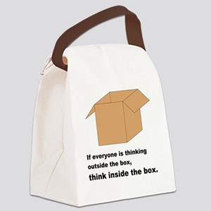 Think Inside the Box Canvas Lunch Bag