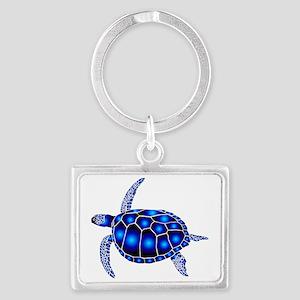 sea turtle ocean marine beach e Landscape Keychain