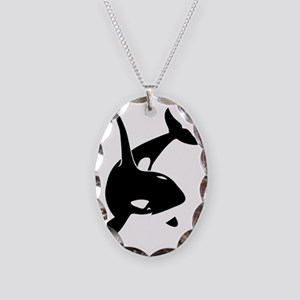 orca killer whale schwertwal w Necklace Oval Charm