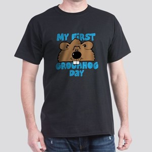 My First Grownd Hog Day Dark T-Shirt