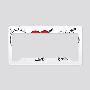 Gifts for her love License Plate Holder