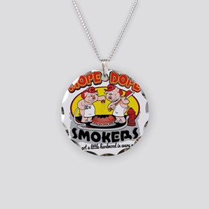 Mope and Dope Smokers Necklace Circle Charm