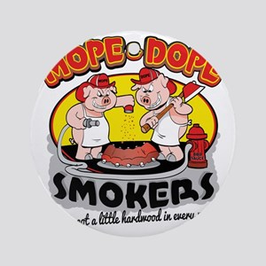 Mope and Dope Smokers Round Ornament