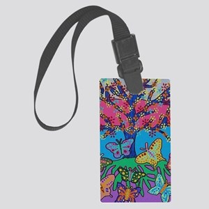 Butterfly Gathering Tree Of Life Large Luggage Tag