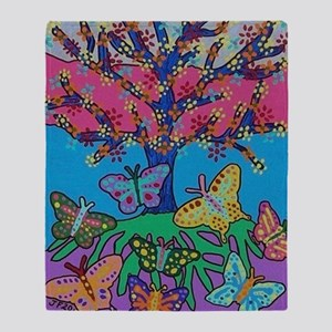 Butterfly Gathering Tree Of Life - 2 Throw Blanket