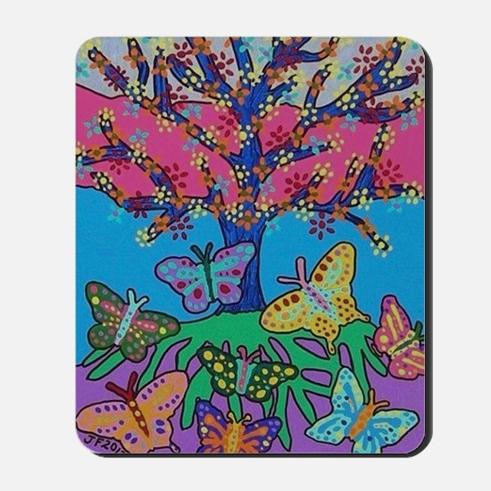 Butterfly Gathering Tree Of Life - 2012  Mousepad