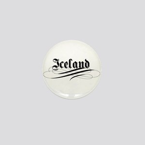 Iceland Gothic Mini Button
