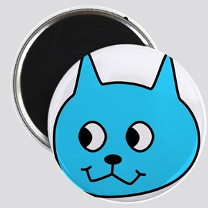 Turquoise Cartoon Cat. Magnet