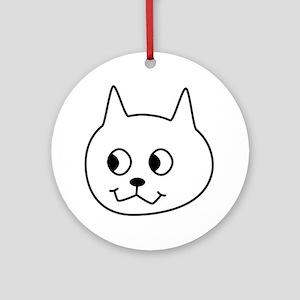 Cartoon Cat. Round Ornament