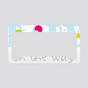 On The Way License Plate Holder
