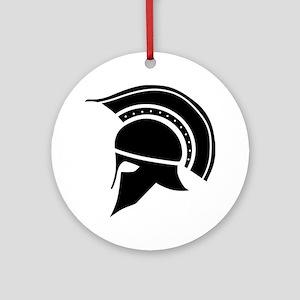 Greek Art - Helmet Ornament (Round)