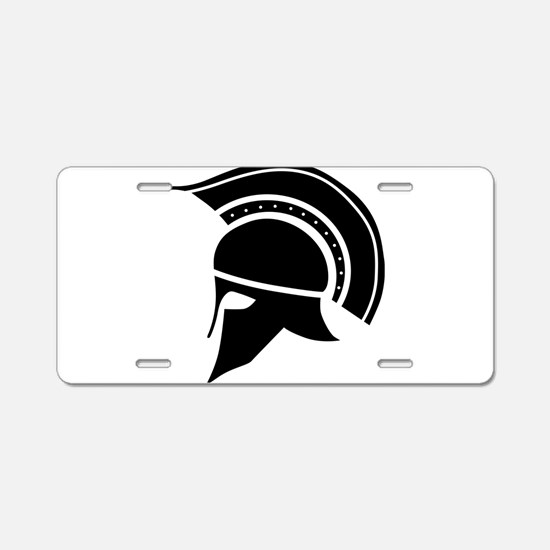 Greek Art - Helmet Aluminum License Plate