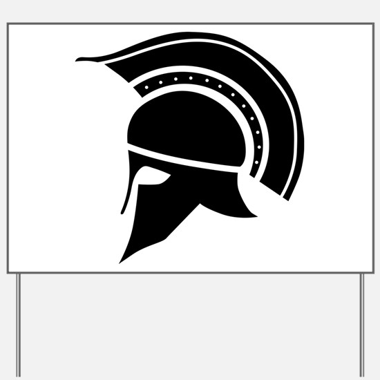 Greek Art - Helmet Yard Sign
