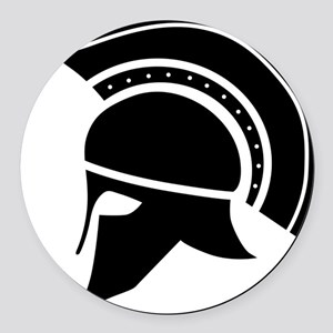 Greek Art - Helmet Round Car Magnet