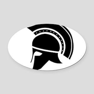 Greek Art - Helmet Oval Car Magnet
