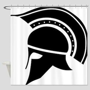 Greek Art - Helmet Shower Curtain