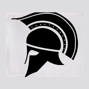 Greek Art - Helmet Throw Blanket