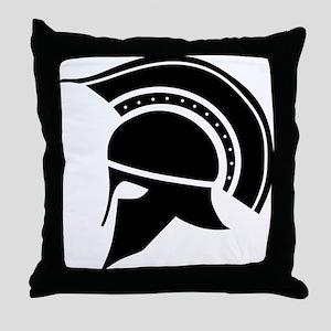 Greek Art - Helmet Throw Pillow