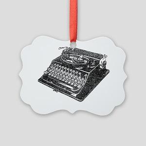 antique typographic vintage typew Picture Ornament