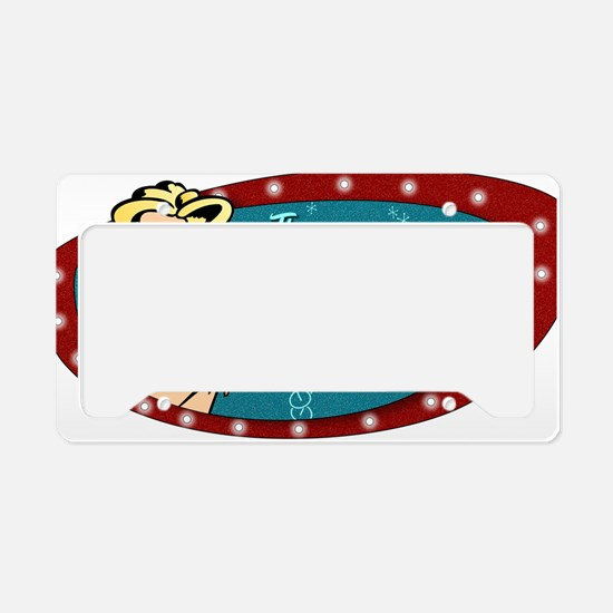 BOOBY TRAP BAR PIN-UP License Plate Holder