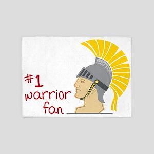 #1 Warrior Fan 5'x7'Area Rug