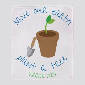 Save Our Earth Throw Blanket