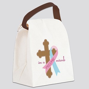 I'm a Miracle Canvas Lunch Bag