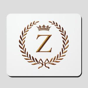 Napoleon initial letter Z monogram Mousepad