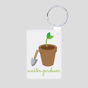 Master Gardener Aluminum Photo Keychain