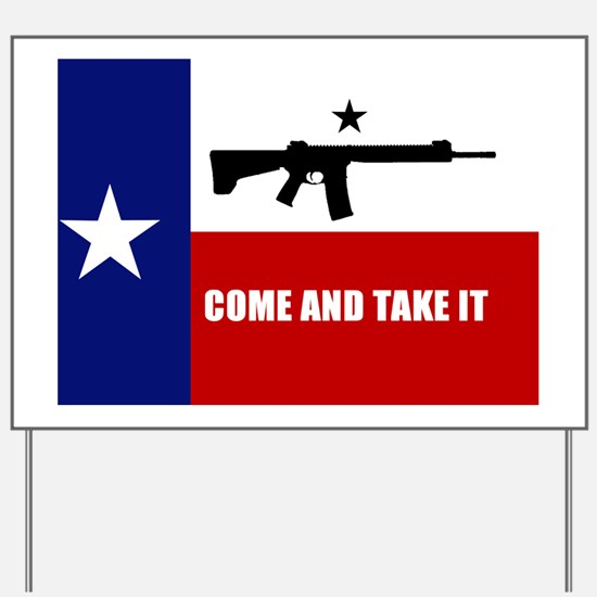 Texas Flag Banner Yard Sign