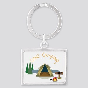Gone Camping Landscape Keychain